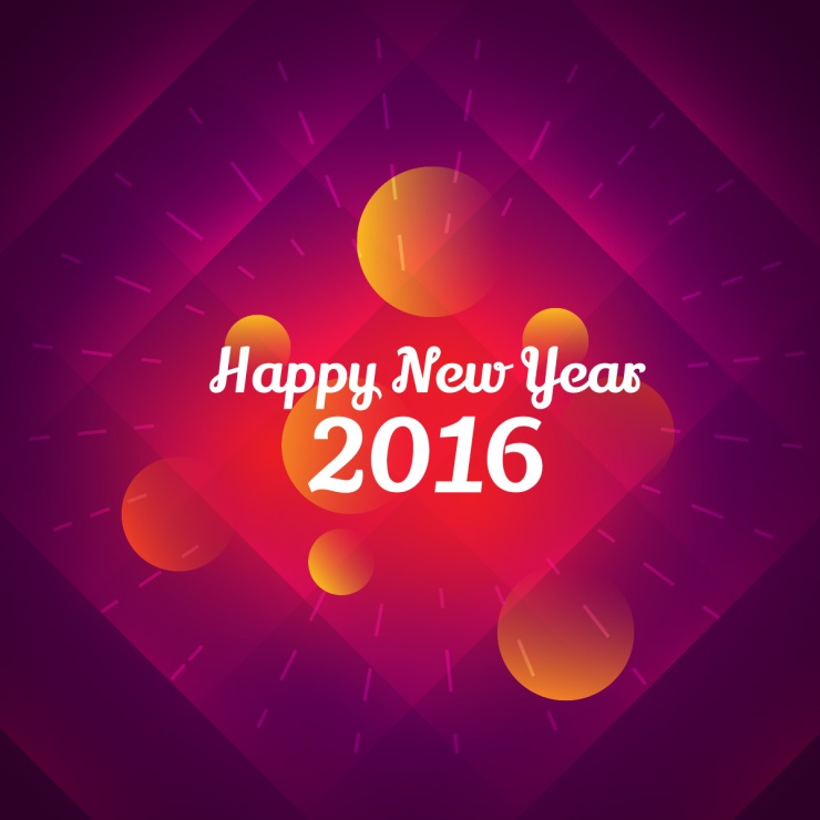 colorful happy new year greeting